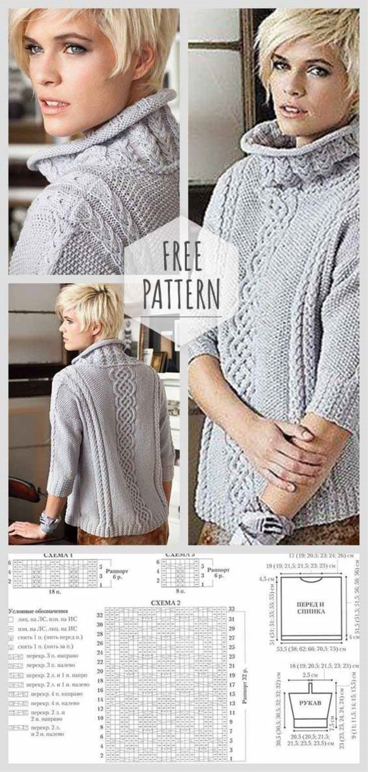 Knitting Sweater with Sleeves | Women | Pinterest | Knitting ...