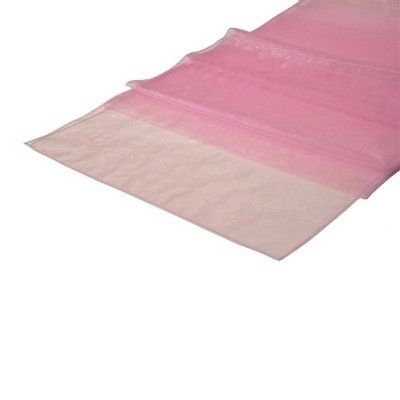 light pink sheer mesh table runner