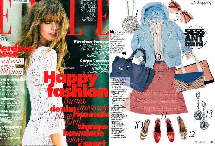 Elle May 2014 - Editorial in Elle www.federicalunello.com #federicalunello #bags #accessories #madeinitaly #handmade