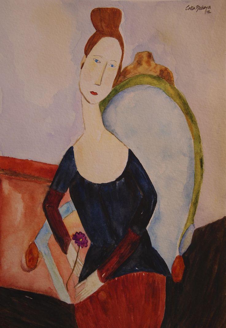 Watercolor paint Rosalba 18 x 25 cm Solgt!