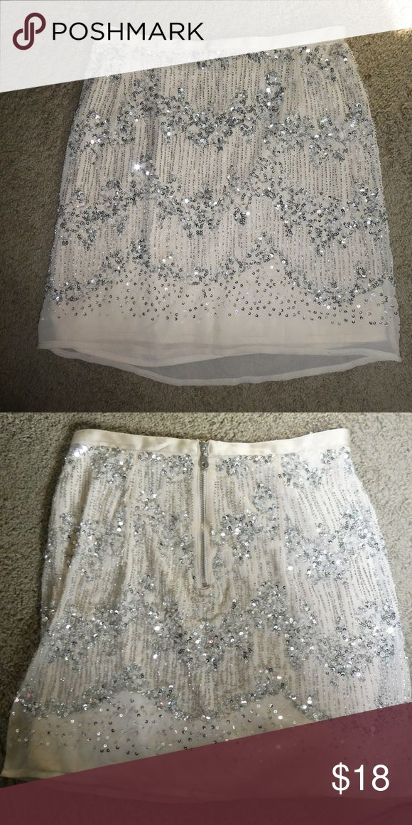 H and M beaded skirt beaded skirt size 6.  super flattering and I wore it for my homecoming and now am trying to sell it! I love it and would show pictures of me in it if needed! H&M Skirts Mini