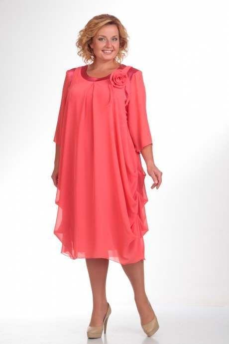 Нарядные платья для полных женщин белорусской компании Pretty. Осень 2015