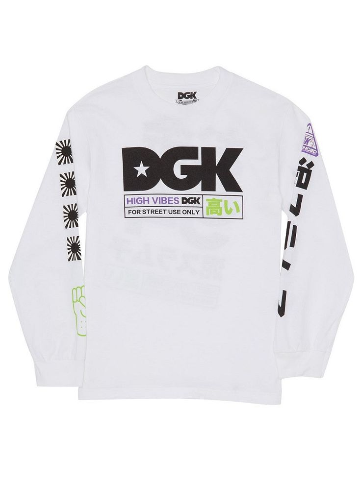 DGK High Vibes Long Sleeve Tee - White – West Brothers