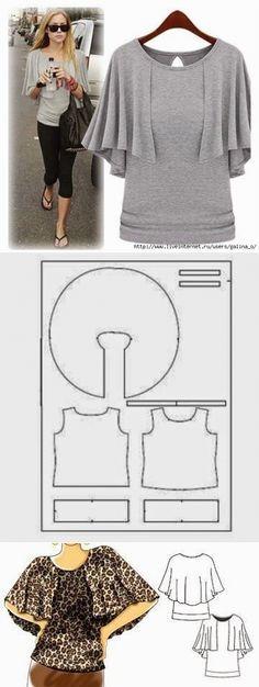 Милая блузочка:3 / Простые выкройки / ВТОРАЯ УЛИЦА #Shirt #Ärmel #Bluse