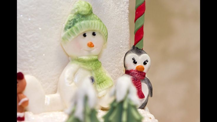 Karen Davies Cake Decorating Moulds / molds - Christmas - free beginners tutorial / how to - Snowman