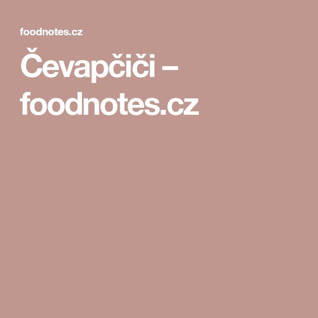 Čevapčiči – foodnotes.cz
