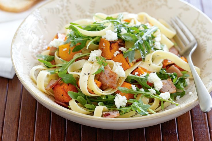 Some readily available ingredients are combined to create this tasty pasta.