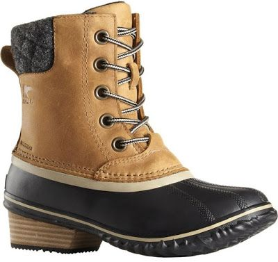 Sorel Slimpack II Lace boot features a waterproof full grain leather upper with taped seams for added waterproof protection.  A microfleece quilted cuff collar offers you covert coziness. These boots are also lined with a soft microfleece lining.