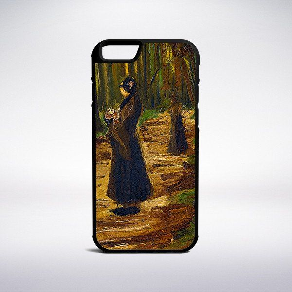 Vincent Van Gogh - Two Women In A Wood Phone Case – Muse Phone Cases