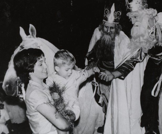 "This photograph from Uruguay shows men dressed as kings, with crowns, flowing capes, and long beards, mounted on horses to greet their ""subjects."" Tres Reyes, or Three Kings Day, celebrated on January 6, is traditionally when Uruguayan children receive their Christmas gifts. The photograph is from the collection of the Columbus Memorial Library of the Organization of American States (OAS), which includes 45,000 photographs illustrative of life and culture in the Americas. Many of th..."