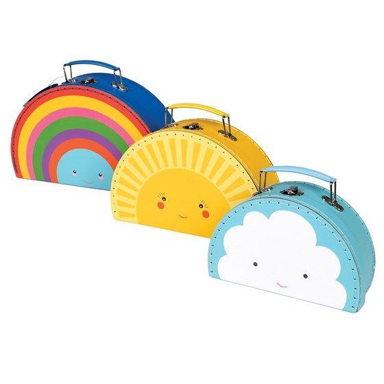 Βαλίτσες Set of 3 -Weather    Μεγάλη:28.5 x 18 x 9cm  Μεσαία: 24.5 x 15.5 x 8cm  Μικρή:19.5 x 12.5 x 7cm