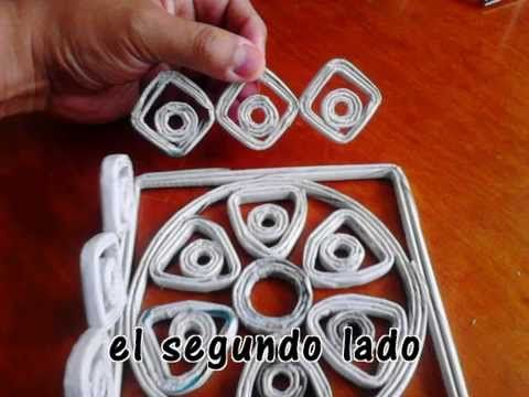 lampara de papel de periodico - YouTube