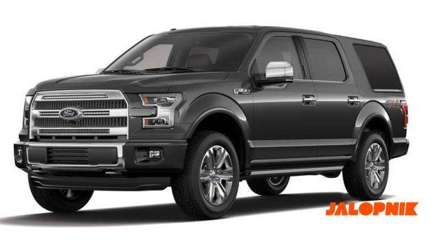 Next-generation Ford Expedition Prototype. The face of an new F-150, most likely an aluminum body and the current 3.5L EcoBoost V6 [365hp/420ftlb 16/22/18mpg 9200lb Tow]. Reportedly slated for 2018 model year.