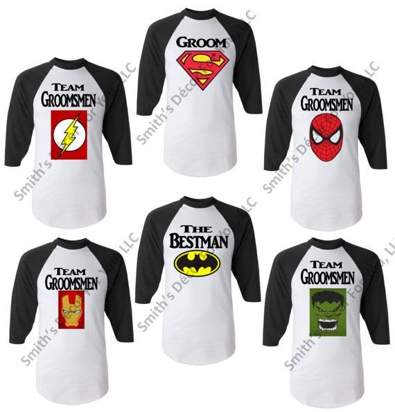Team Groomsmens Superhero Bachelor party by SmithsDecorForYouLLC