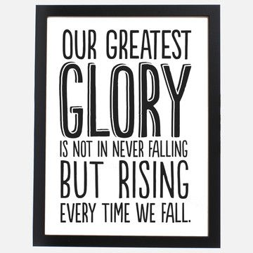 Just love this message...don't be afraid to fail!Fit Quotes, Motivation Pictures, Rise, Greatest Glories, Inspirational Quotes, Favorite Quotes, Fit Motivation, Inspiration Quotes, Pictures Quotes
