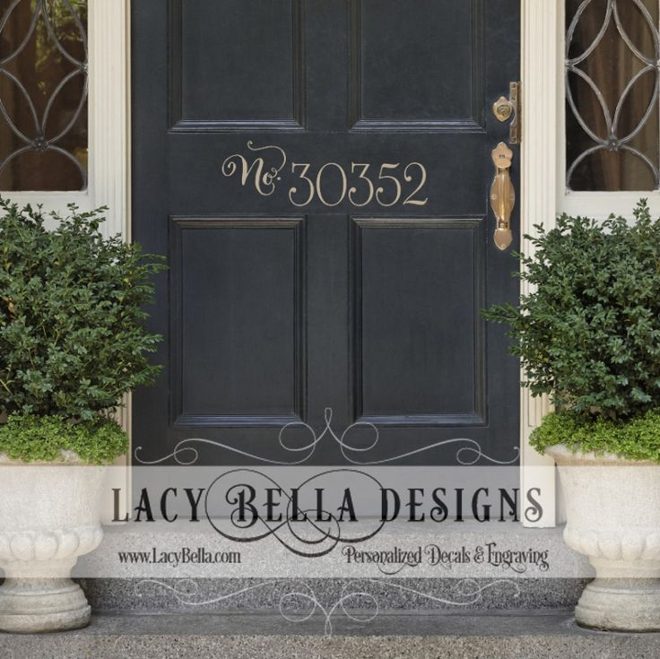House number lacy bella front door for Front door number plaques