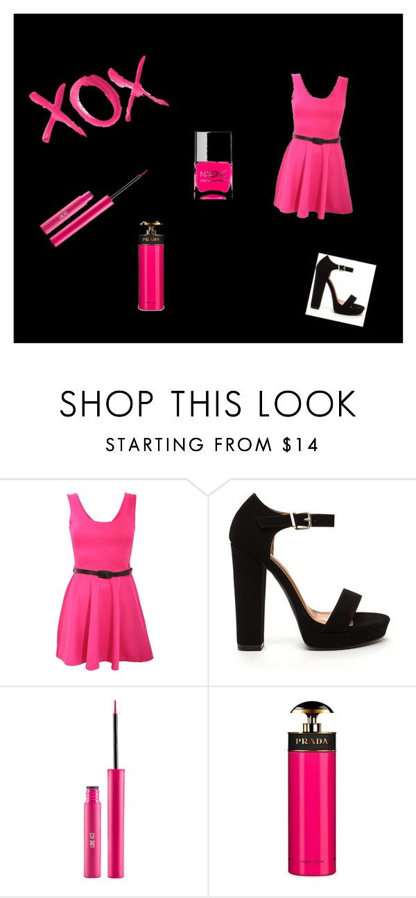 """""""Neon Pink"""" by electraz on Polyvore featuring GALA, Pilot, Prada and Nails Inc."""
