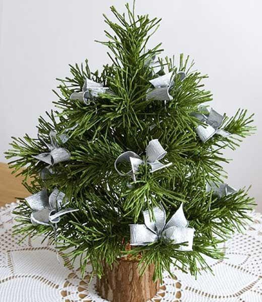 Новогодняя елка своими руками - оказывается, просто. - Новогодняя елка своими руками: почти как настоящая-гофробумага.проволока