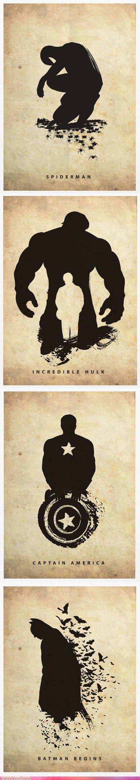 Interesting poster series by Marcus. The only one i really like is the batman begins one.