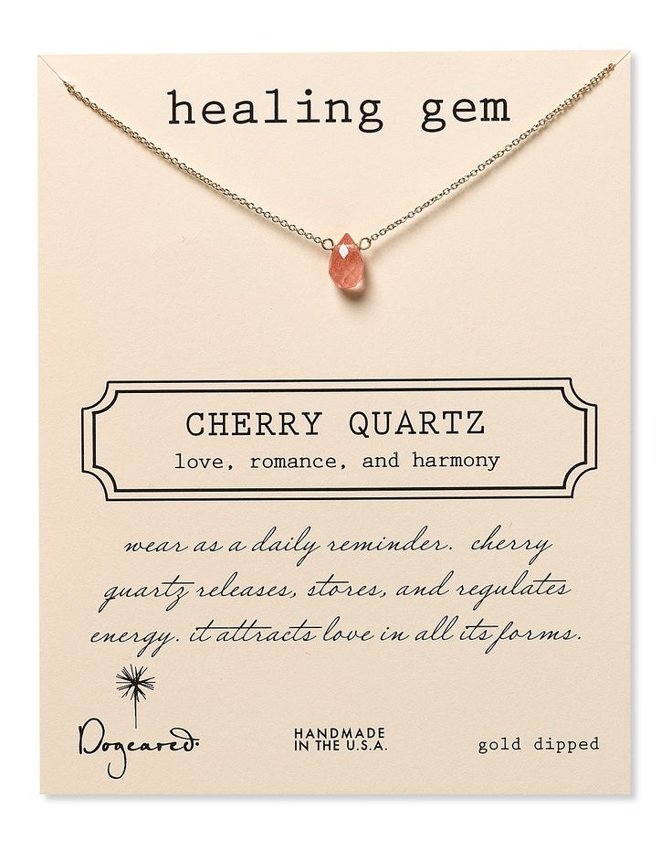 Dogeared Healing Gems Cherry Quartz Necklace, 16"