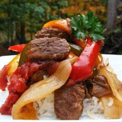 Slow Cooker Pepper Steak (originally spotted by @Ernestinekdy383 ): Steaks Recipes, Crock Pots, Slow Cooking, Pepper Steak, Slow Cooker, Peppers Steaks, Cooker Peppers, Peppersteak, Crockpots