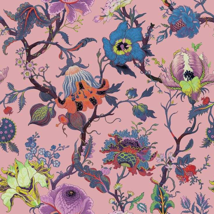 Part of the HOUSE OF HACKNEY x WILLIAM MORRIS AW15 collection: Artemis Amaranth Pink http://www.houseofhackney.com/collections/artemis.html