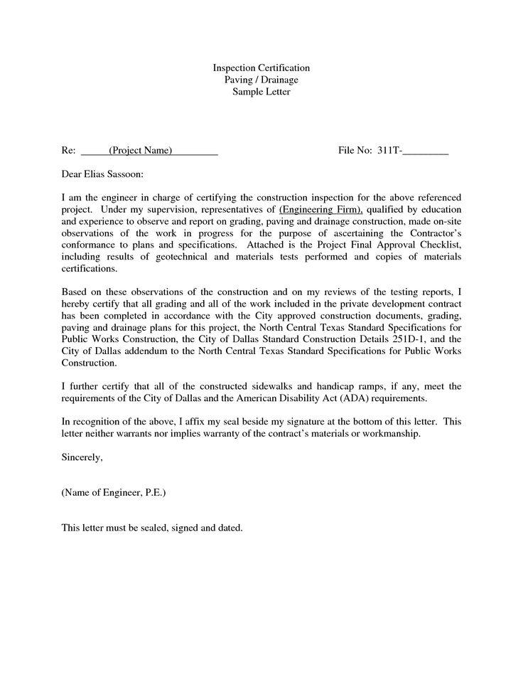 Photos Sample Certification Letter Use Certificate Sentence