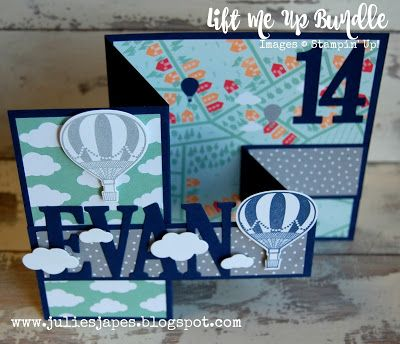 Julie Kettlewell - Stampin Up UK Independent Demonstrator - Order products 24/7: Lift Me Up bundle