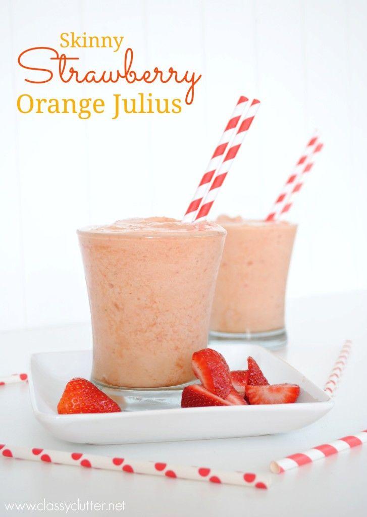 Strawberry Orange Julius: Orange Julius, Smoothie Strawberries Recipes, Smoothie Recipes Orange, Skinny Strawberries, Skinny Orange Recipes, Strawberries Orange, Orange Smoothie Recipes, Orange Juice, Classy Clutter
