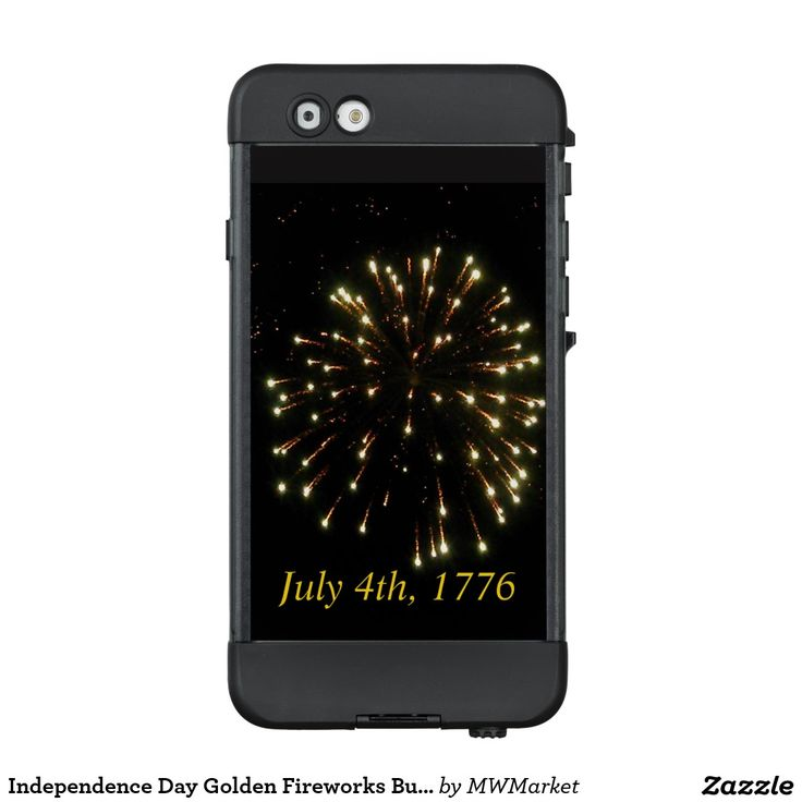 Independence Day Golden Fireworks Burst LifeProof® NÜÜD® iPhone 6 Case Celebrate America's independence day with this beautiful image of golden fireworks exploding in a Fourth of July night sky. Emblazoned with that fateful date July 4th, 1776.