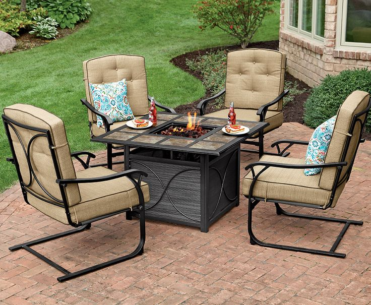 Summer Nights Are Best By The Fire With This Square Tile Top Firepit From  Our