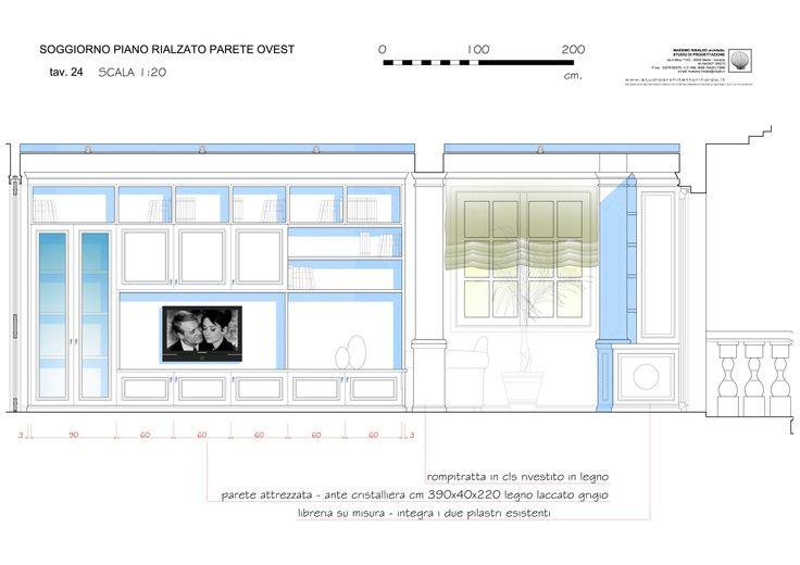 living & dining room elevation - level 0 - Massimo Rinaldo architetto