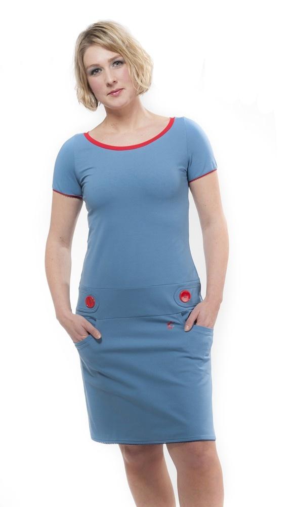 sportieve stoere en hippe blauwe jurk Zendee