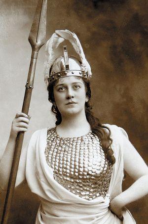 "Lillian Nordica as Brunnhilde in Richard Wagner's ""The Valkyrie."