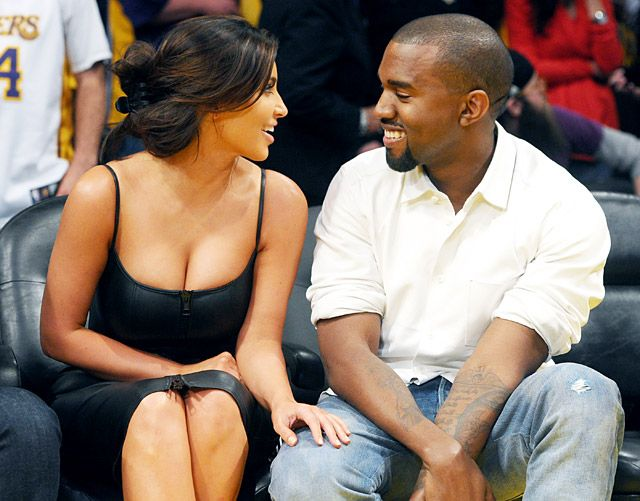 "Kim Kardashian and Kanye Wests Sweetest PDA Moments: Courtside Cuties.  ""Aren't they so in love with each other?.."""