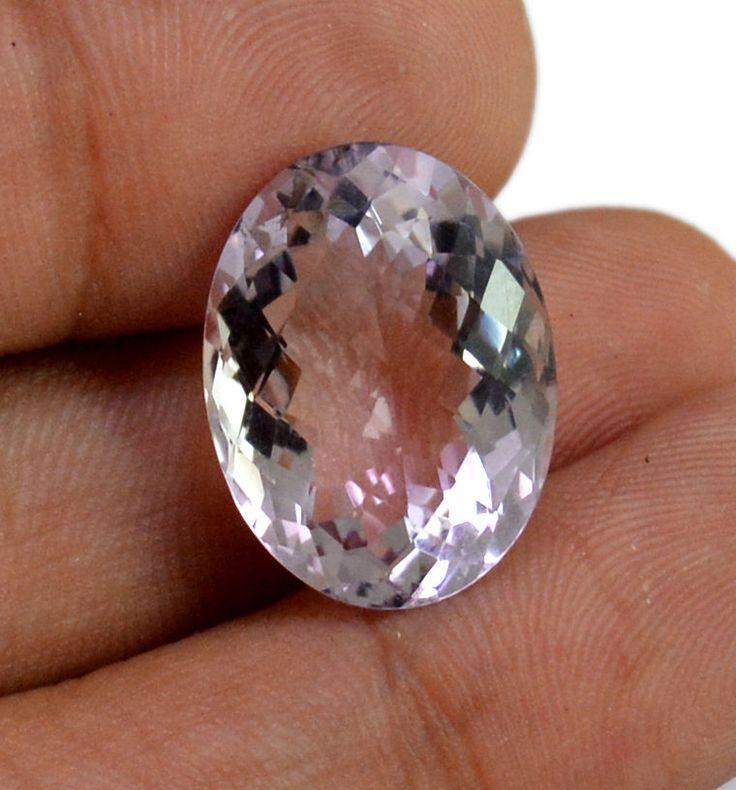 16ct VS Big Rare Natural Light Purple Amethyst Quartz Faceted Loose Gemstone #krishnagemsnjewels