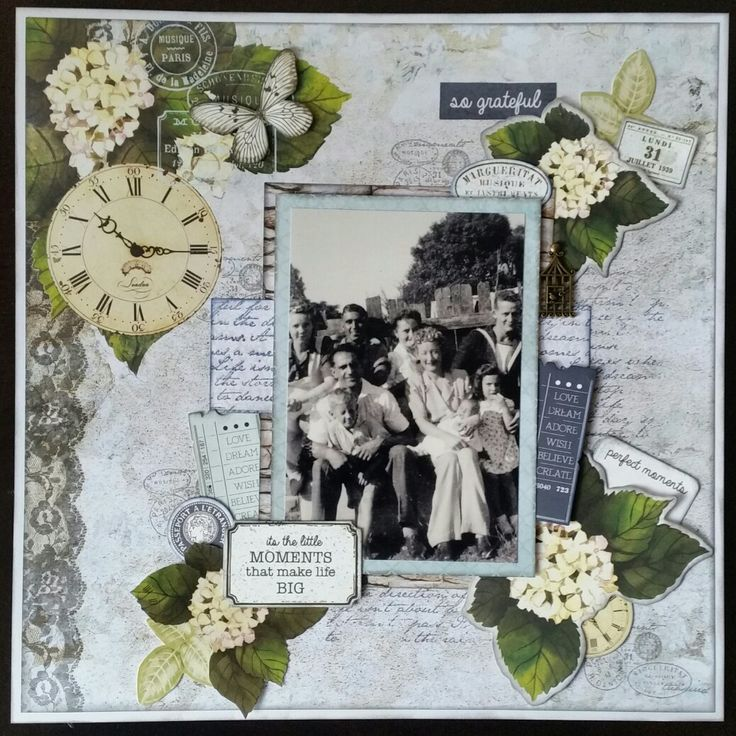 Grand-family Made using the Provincial Collection by Kaisercraft