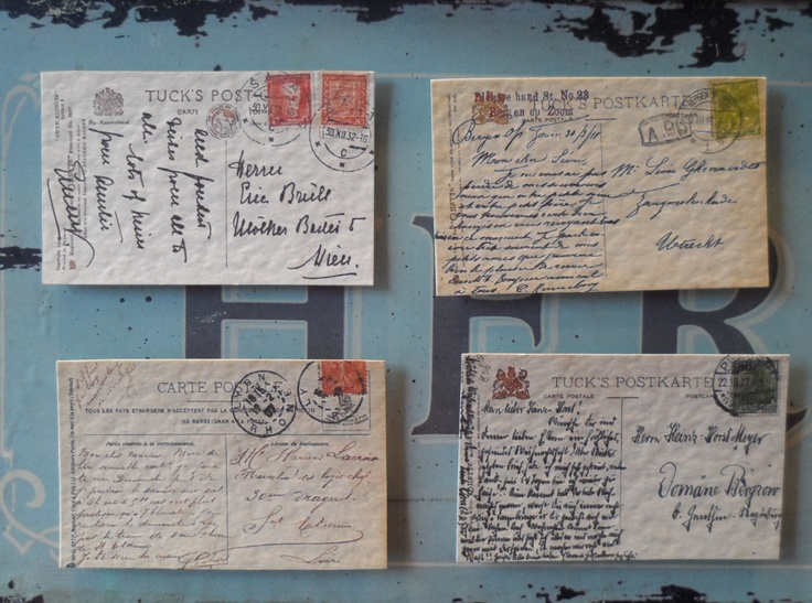 Vintage french postcard magnets