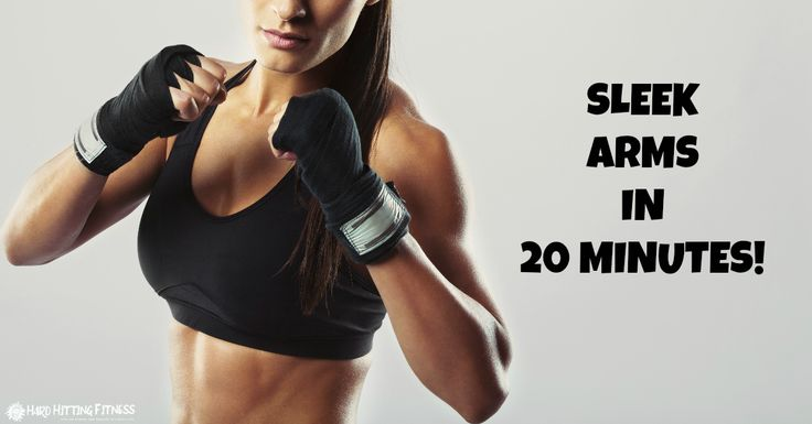 Get sleek arms in 20 minutes with this kickboxing bag workout. Watch this video for an incredible way to burnout and develop sleek arms with these 5 drills.
