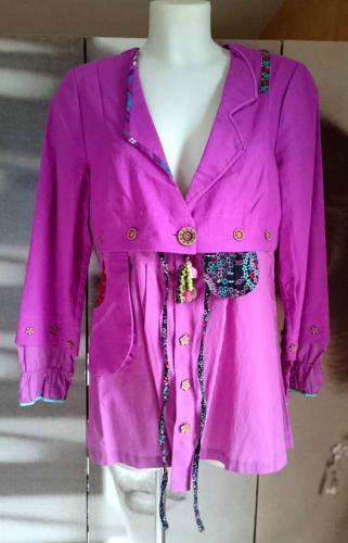 ENJOY-Veste-en-lin-rose-fuchsia-TAILLE-40-Valeur-boutique-150-REF109-1