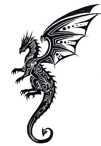 Tribal Dragon Tattoo by ~Tribalchick101 on deviantART  on wrist with tail wrapped around Tattoo Ideas | tattoos picture tribal dragon tattoo
