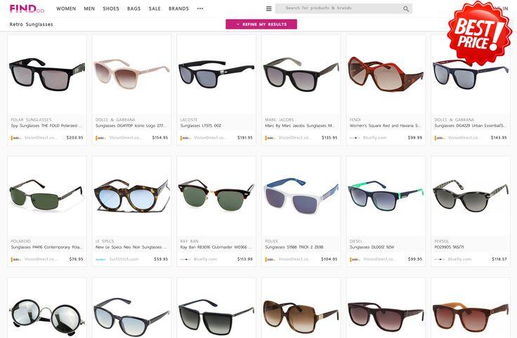 Retro Fashion Sunglasses for women on Findoo.