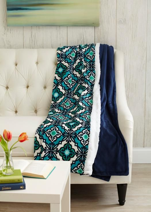 Wrap up in a posh plush throw! It's an easy-to-sew project, even for beginners.