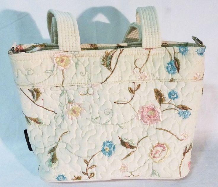 donna sharp handbag blush suzette quilted NWT white w/flowers #DonnaSharp #ShoulderBag
