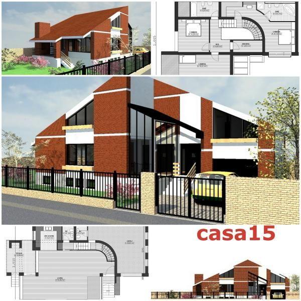 Proiect Vila Design Modern, Parter+Mansarda