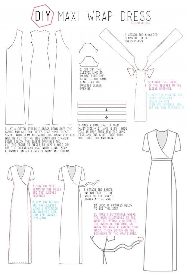 Платье с запАхом на пуговке (выкройка)