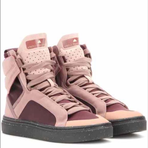 Stella McCartney for Adidas Suede-Accented High-Top Sneakers cheap sale with mastercard professional real cheap online many kinds of online vSsyrQ8