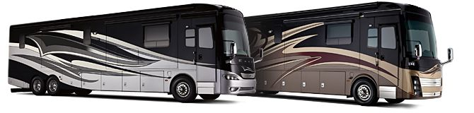 Newmar — Essex & King Aire motorhomes - riding on Spartan Chassis.