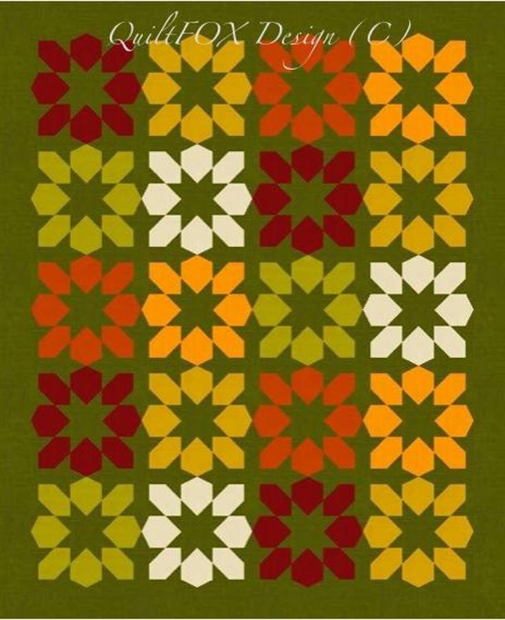 Put your warm-colored scraps to use in one of these seasonal quilt patterns.