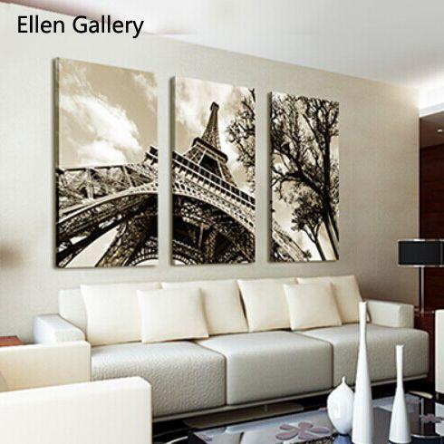 Cheap Envío gratis torre Eiffel pintura de la lona Paris Wall Painting Pictures...